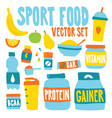 sport food nutrition objects vector image vector image
