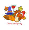 thanksgiving day greeting postcard vector image vector image