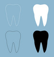 tooth the black and white color icon vector image
