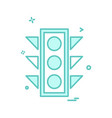 traffic signals icon design vector image vector image