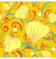 yellow siamles with flower petal and swirl vector image