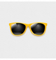 yellow sunglasses with transparent background vector image vector image