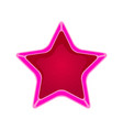 pink cartoon star vector image