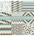 Set of seamless retro patterns vector image