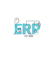 Enterprise resource planning vector image