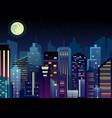 night urban city landscape vector image