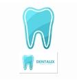 Set of dental logos tooth design vector image