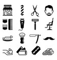 set of barber shop icons vector image