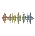 3d pulse music player audio rainbow mosaic wave vector image vector image