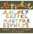 Alphabet design vector image vector image