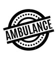ambulance rubber stamp vector image