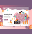 analytics website landing page design vector image