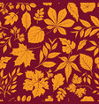 autumn leaves stylish background fall seamless vector image vector image
