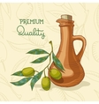 Background with Olive branch and oil vector image vector image