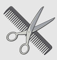 Barber Scissor and Comb vector image vector image