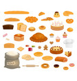 bread and pastry desserts bakery shop vector image vector image