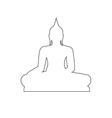 buddha path on white background vector image vector image