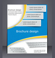 business brochure layout template vector image vector image