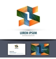 business logo icon emblem template card vector image