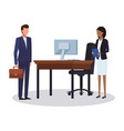 business teamwork avatar vector image vector image
