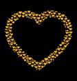 card of glitter golden heart vector image vector image