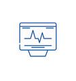 cardiovascular check line icon concept vector image vector image
