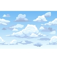 cartoon blue cloudy sky horizontal seamless vector image vector image