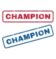 Champion Rubber Stamps vector image vector image