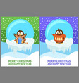 cheerful penguin in sweater and scarf vector image vector image