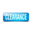 clearance blue square 3d realistic isolated web vector image vector image