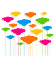 cloud design pattern background vector image vector image