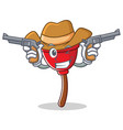 cowboy plunger character cartoon style vector image vector image