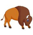 cute bison cartoon vector image vector image