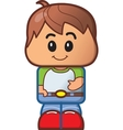 cute boy avatar vector image