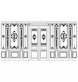 Damask Ornamented frames for walls vector image vector image