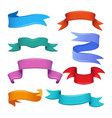 different banners and ribbons in cartoon style vector image
