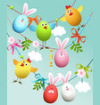 Easter decoration vector image