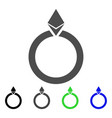 ethereum jewelry ring icon vector image vector image
