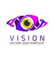 Eye logo template vector image vector image