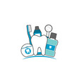 family of healthy teeth and friend vector image vector image