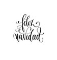 feliz navidad - hand lettering inscription merry vector image