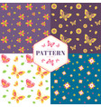 floral seamless pattern with flowers and butterfli vector image vector image