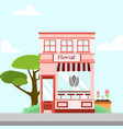 florist store front building background vector image