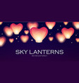 flying sky lanterns chinese light effect vector image vector image