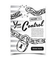 freedom from control advertising poster vector image vector image
