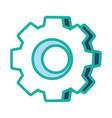 gear machinery piece cartoon vector image vector image