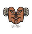 gemini astrological sign of zodiac vector image