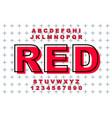 grunge modern bold font and alphabet vector image
