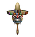happy maraca with hat vector image