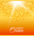 happy onam greeting card vector image